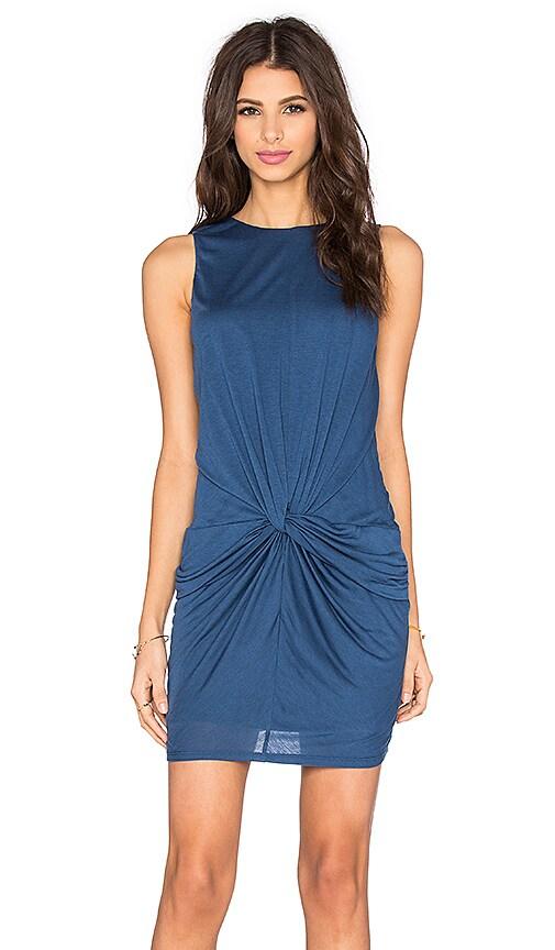 twenty Perfect Modal Twisted Dress in Navy