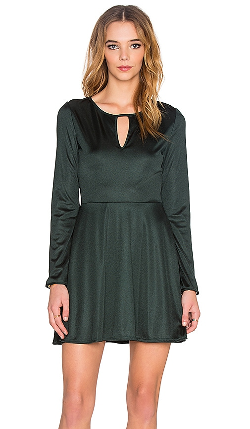 twenty Long Sleeve Mini Dress in Jewel