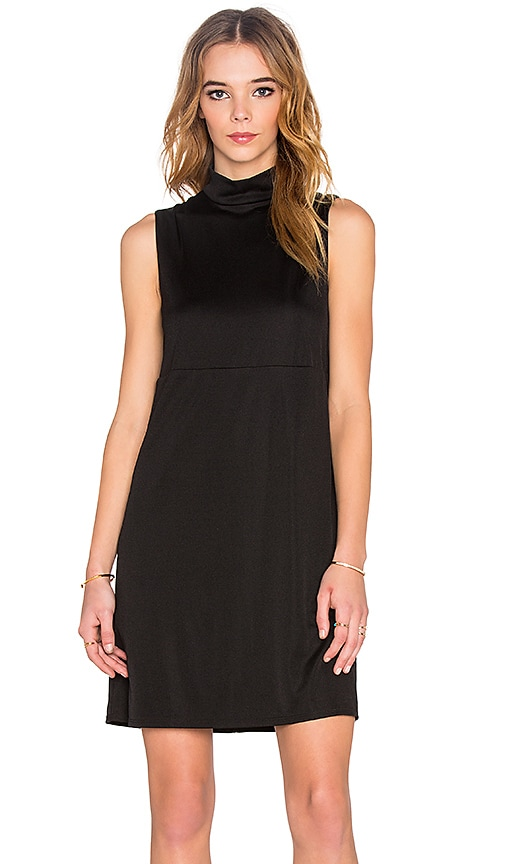 twenty Mock Neck Tank Mini Dress in Black
