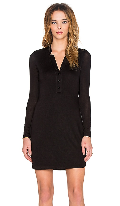 twenty Long Sleeve Dress in Black