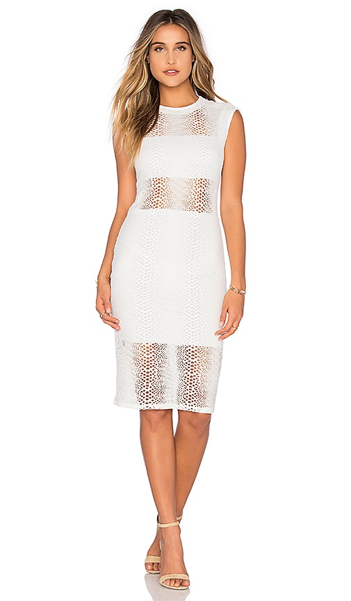 twenty Boa Crochet Dress in White