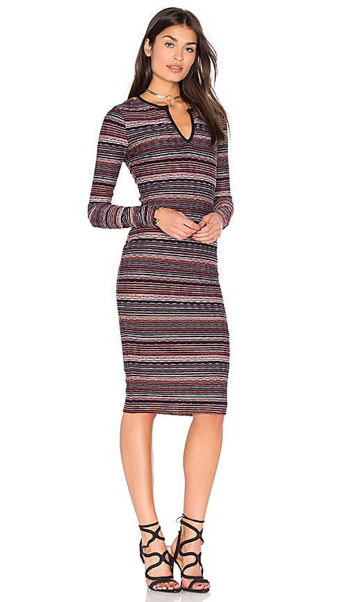 twenty Division Stripe Dress in Red
