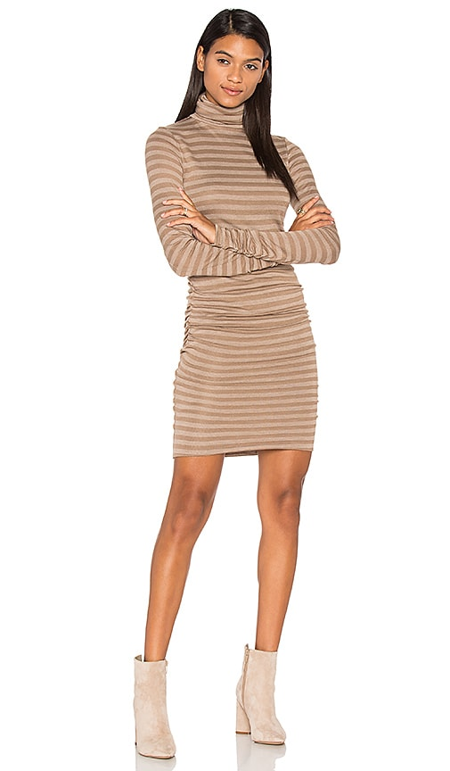 twenty Luxe Turtleneck Dress in Taupe