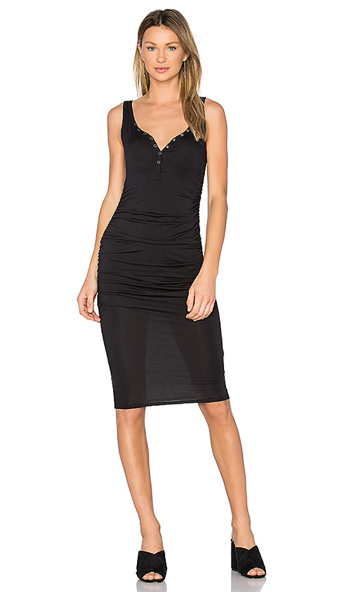 twenty Superior Midi Dress in Black