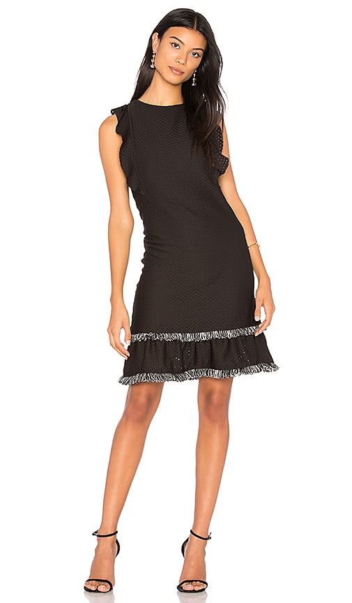 twenty Method Ruffle Dress in Black