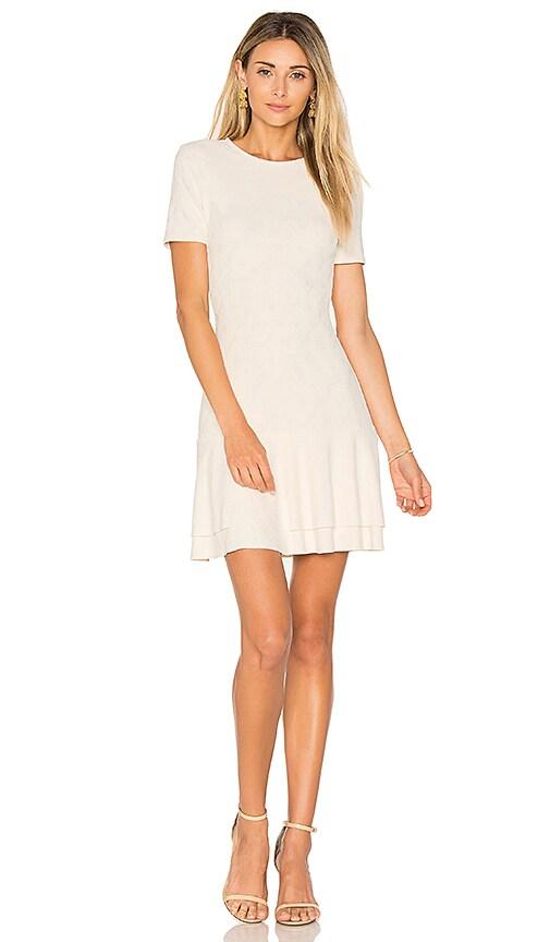 twenty Embossed Jacquard Dress in Ivory