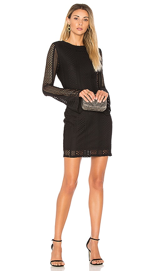 twenty Crafted Mesh Dress in Black
