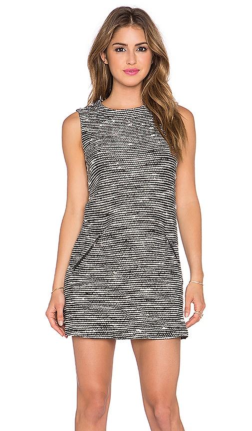 twenty Boucle Shift Dress in Black & White
