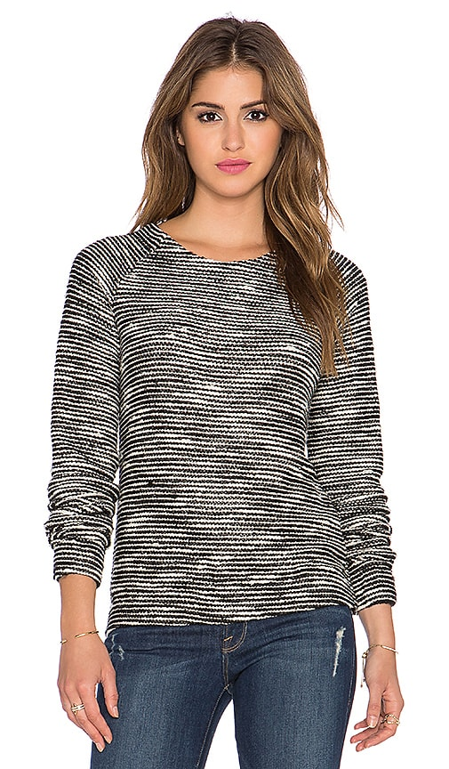twenty Boucle Pullover in Black & White