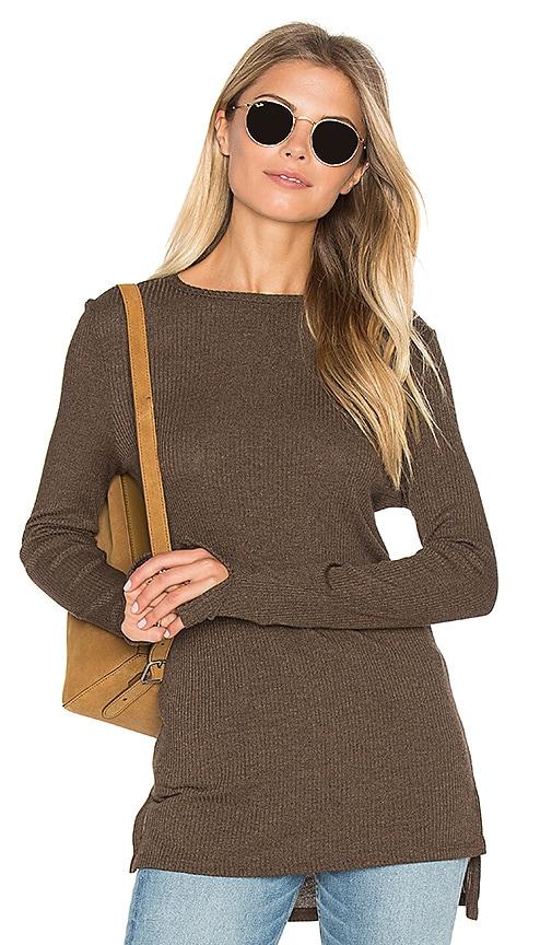 twenty Autumn Rib Sweater in Brown