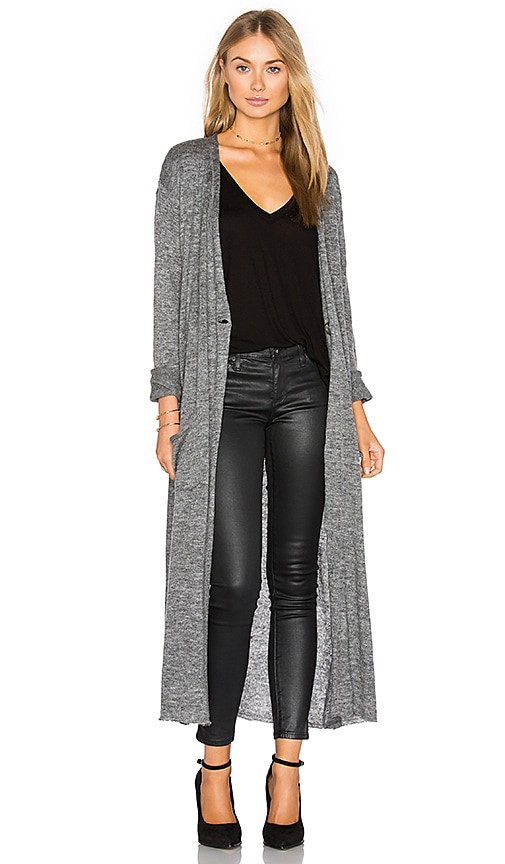 twenty Armas Long Cardigan in Grey