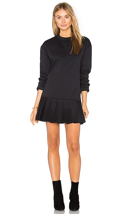 twenty Pride Pleated Sweater Dress in Black