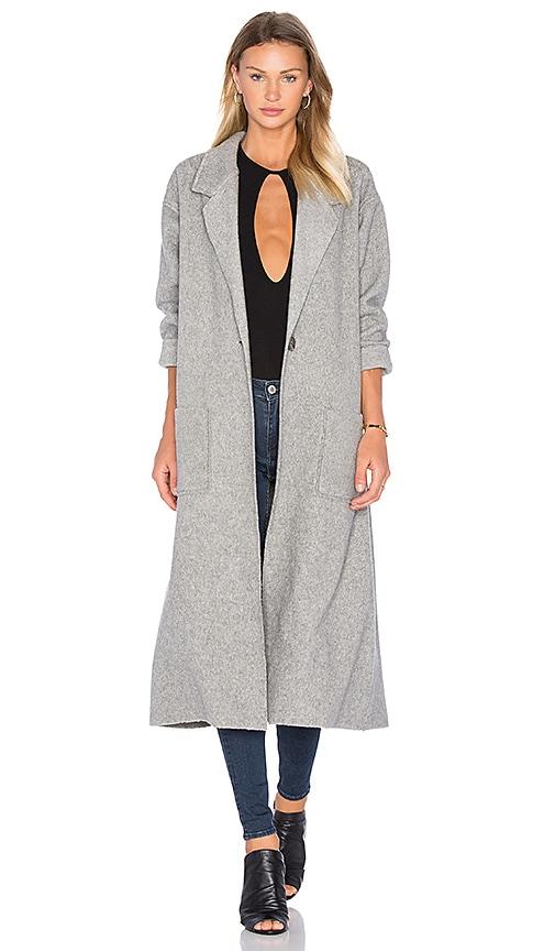 twenty Polar Fleece Coat in Gray