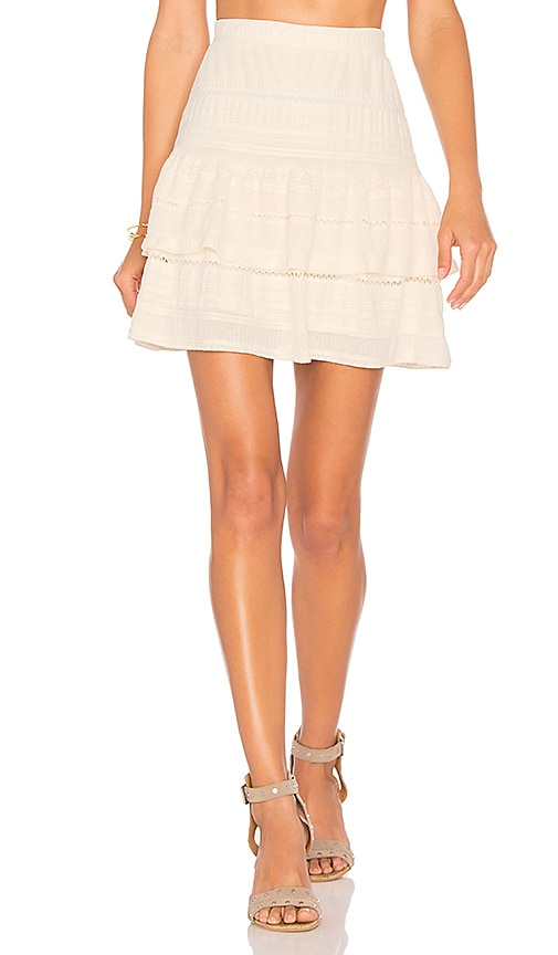twenty Festival Jacquard Skirt in White
