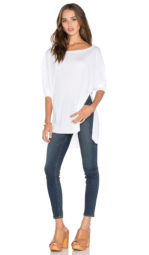 twenty Perfect Modal Long Sleeve Tee in White