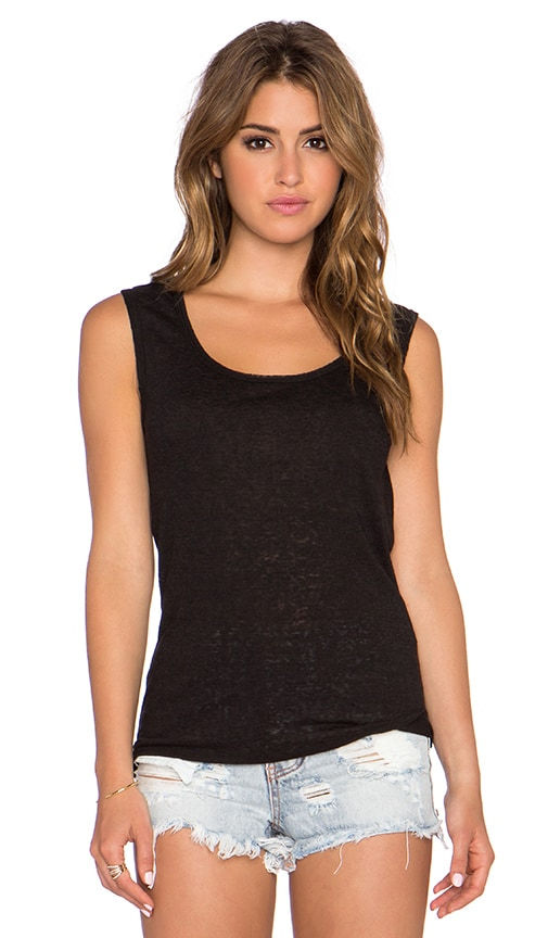 twenty Drape Back Tank in Black