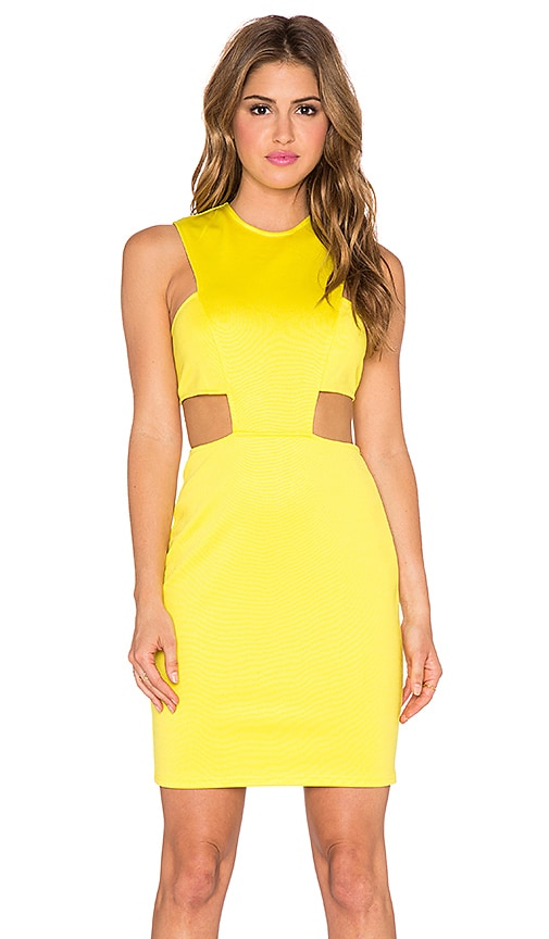 Cut Out Waist Bodycon Dress