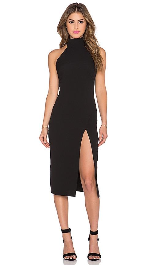 Twin Sister Racer Bodycon Dress With Split In Black Revolve