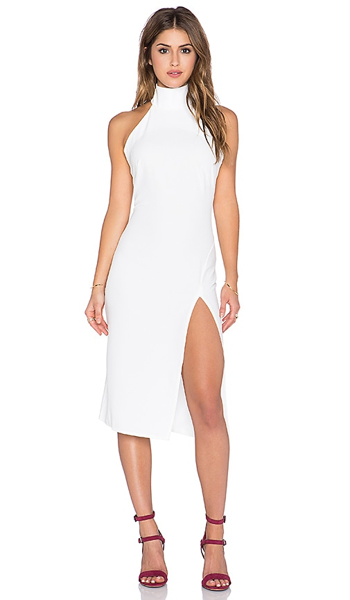 Racer Bodycon Dress with Split