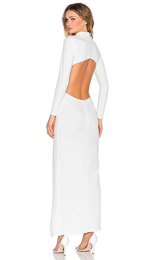 High Neck Longsleeve Maxi Dress