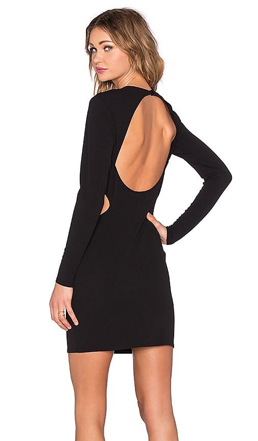 Cut Out Long Sleeve Dress