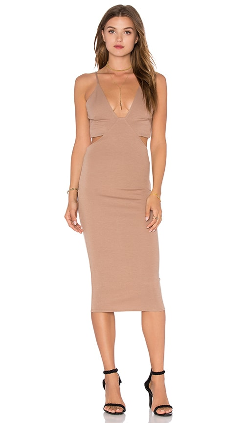 V Neck Back Cut Out Dress
