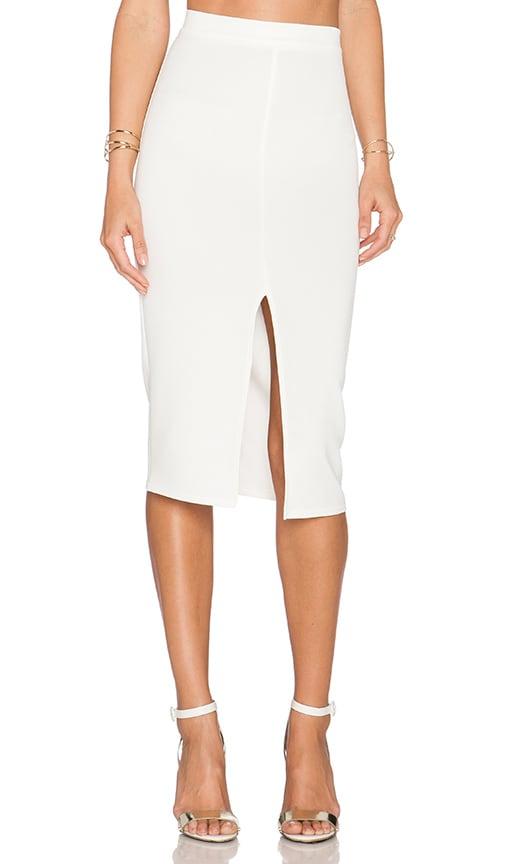 Twin Sister Bodycon Pencil Skirt in Cream