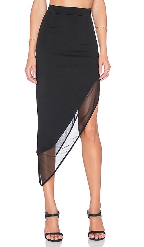 Mesh Asymmetric Skirt