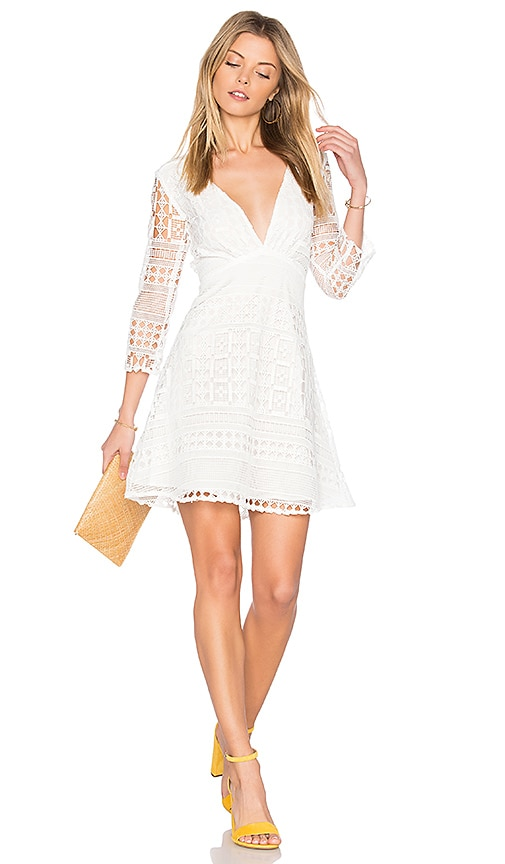 Two Arrows Coastal Dress in White