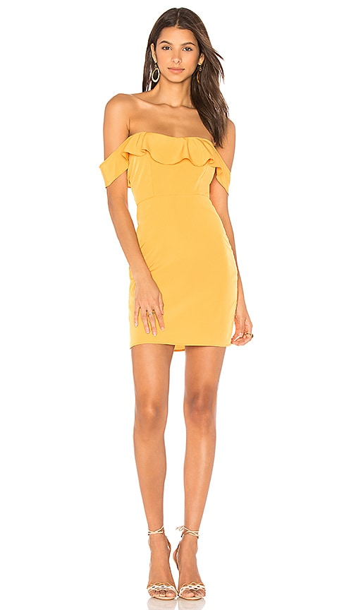 Two Arrows Kate Mini Dress in Mustard