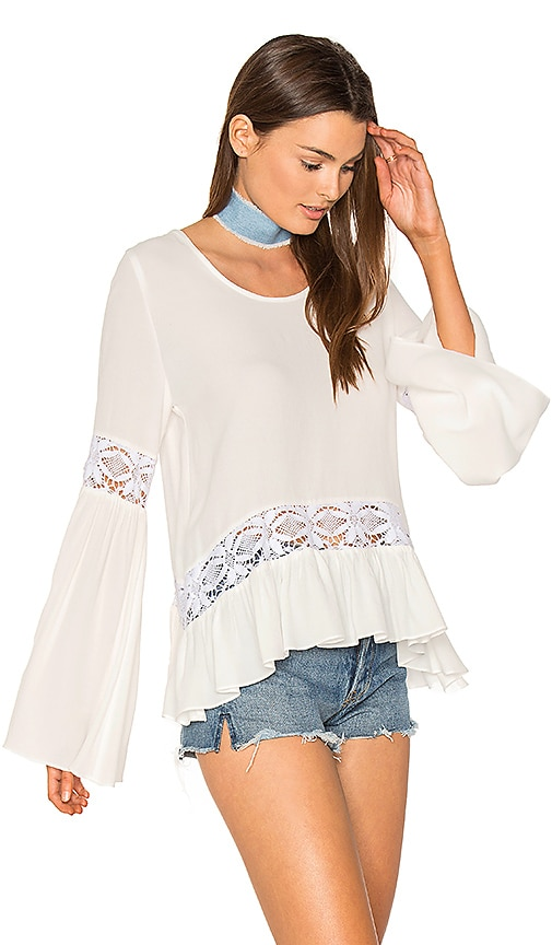 Two Arrows Bella Top in White