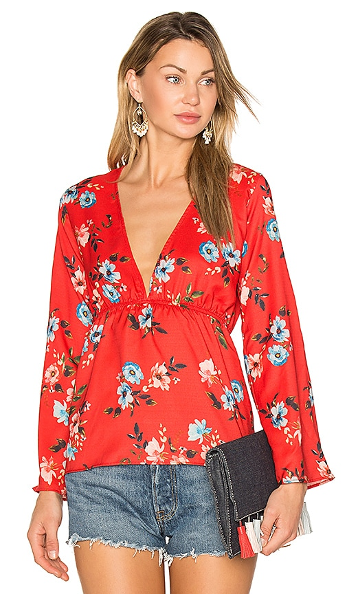 Two Arrows Braxton Top in Red