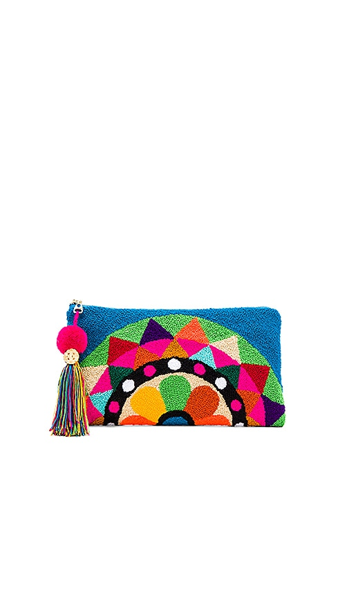 the way u Carousel Turquoise Clutch in Blue
