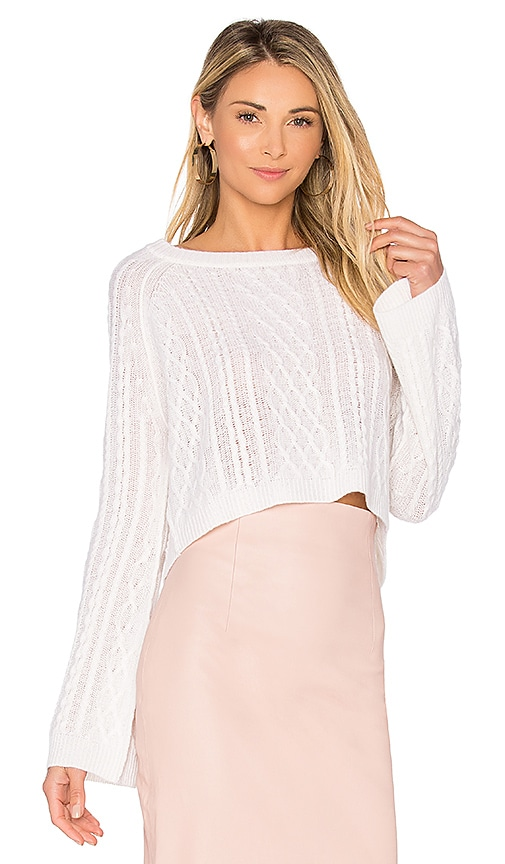 ThePerfext Ella Knit Top in Ivory
