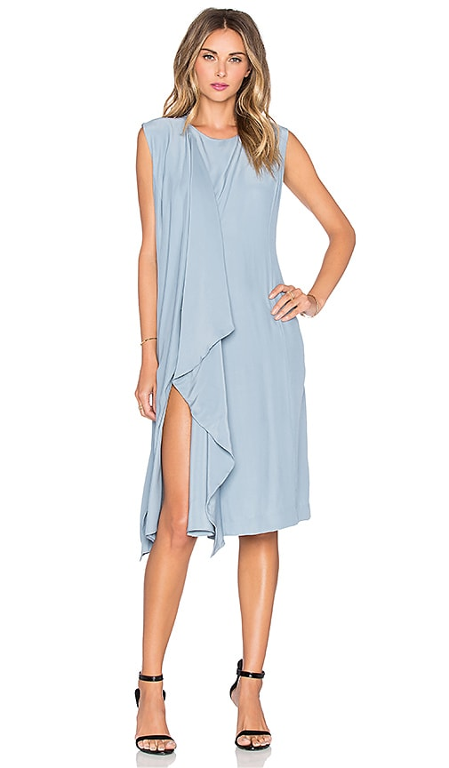 TY-LR The Philo Silk Dress in Duck Egg