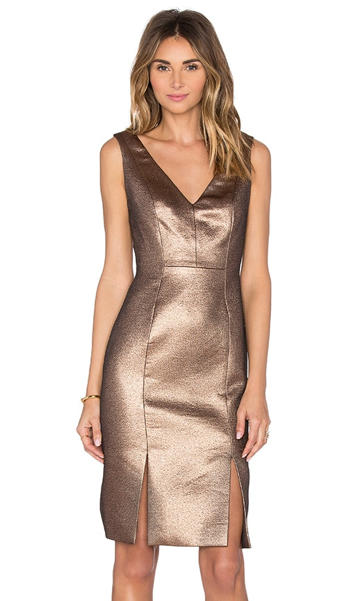 TY-LR Copper Lane Dress in Copper