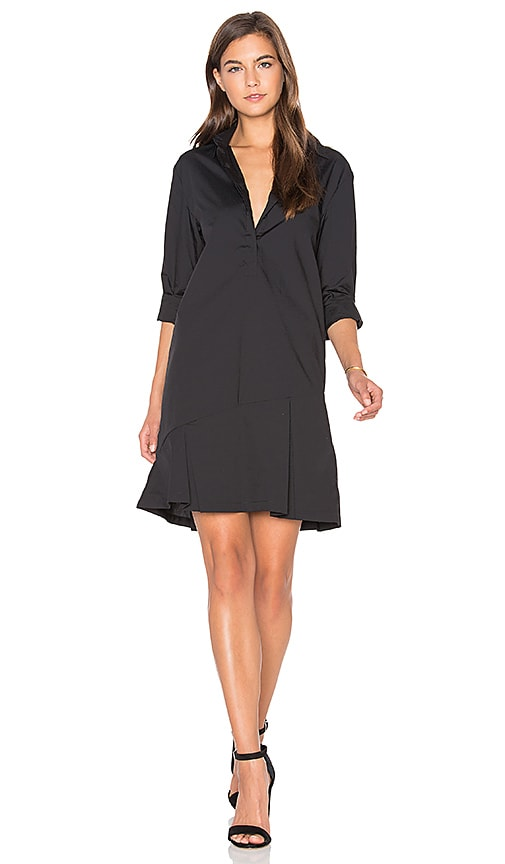 TY-LR The Siena Shirt Dress in Black