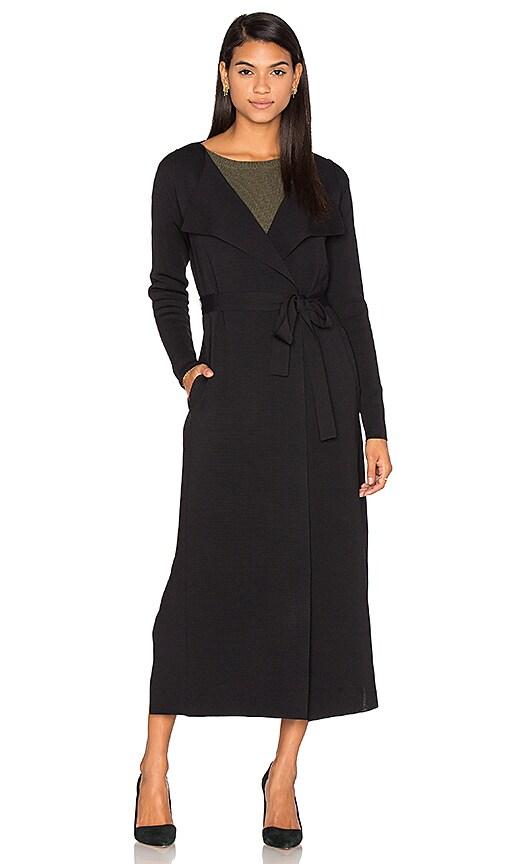 TY-LR Longline Knit Cardigan in Black