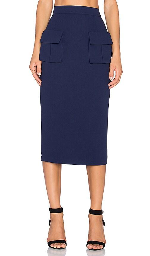 TY-LR The Rive Gauche Skirt in Navy