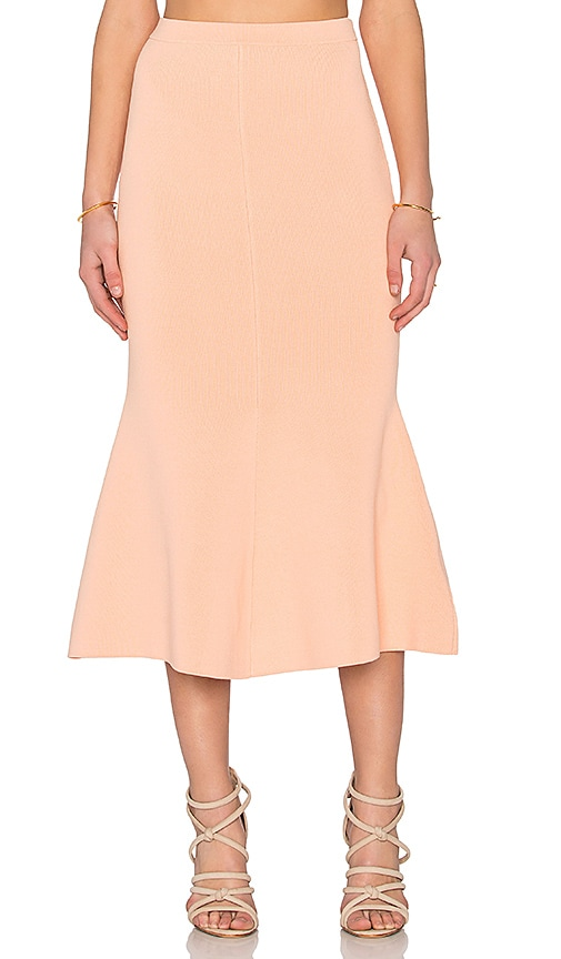 TY-LR The Vantage Knit Skirt in Copper Orange