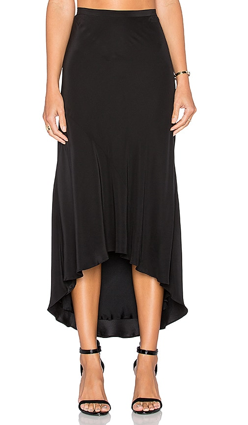 TY-LR The Plutonic Silk Skirt in Black