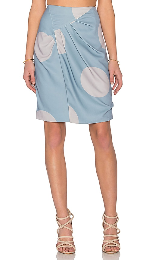 TY-LR The Dot Discovery Skirt in Blue