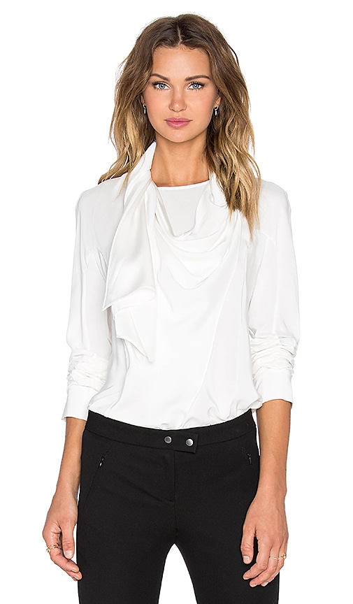 TY-LR The Philo Blouse in Snow