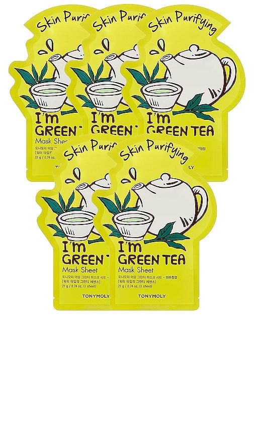 MÁSCARA DE LA HOJA I'M GREEN TEA SHEET MASK