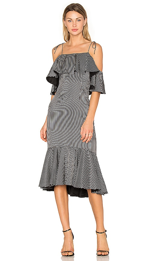 AMUR Francesca Dress in Black & White