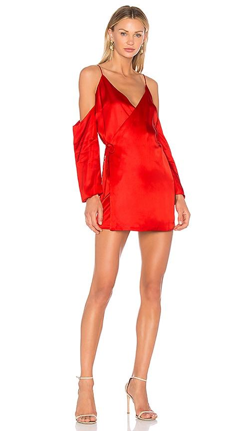 AMUR Sloan Dress in Red