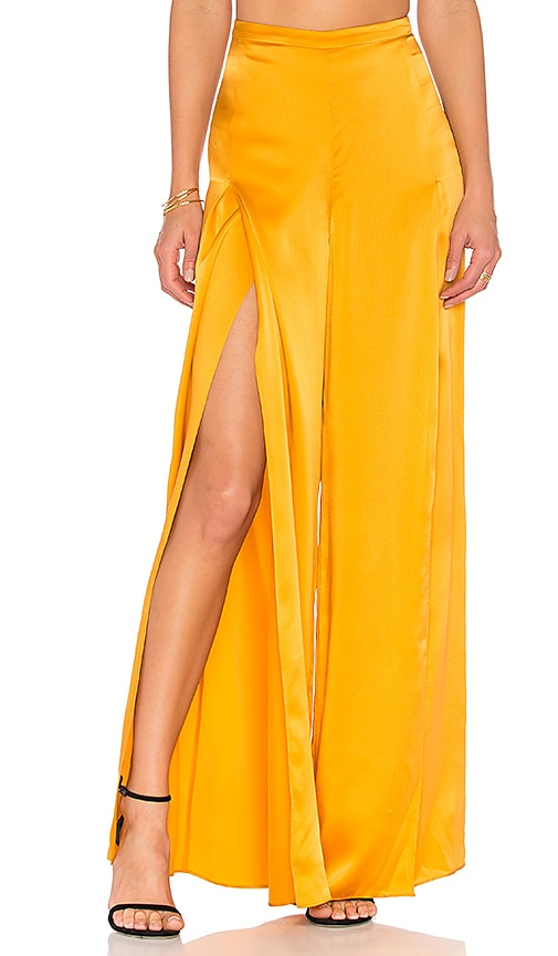 AMUR Ines Pant in Yellow
