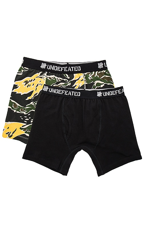 Undefeated 2 Pack Boxer Shorts in Black