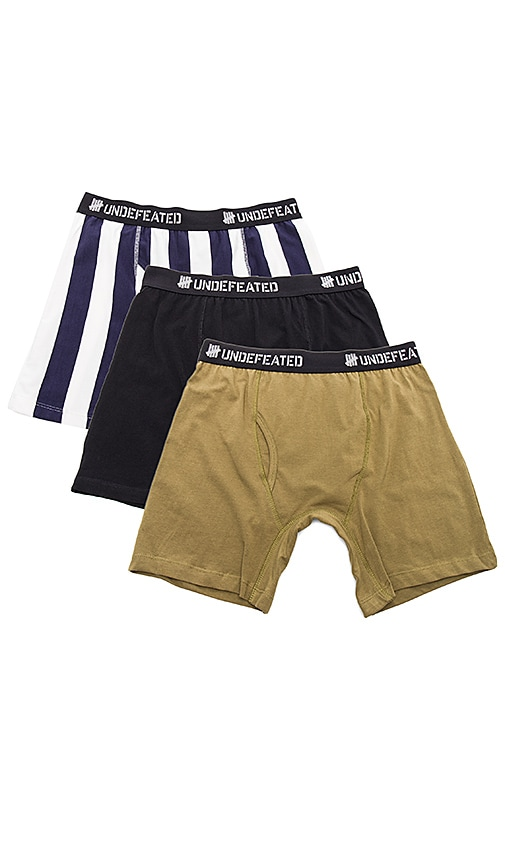 Undefeated 3-Pack Boxer Shorts in Black