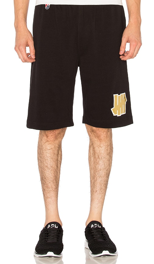Undefeated 5 Strike Jersey Shorts in Black